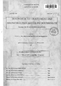 Aurore | Diagnostic et traitement des bronchiolites aigues du ...